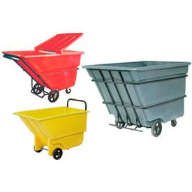 Bayhead Products Plastic Tilt Trucks - up to 1-1/10 Cu. Yd. Capacity