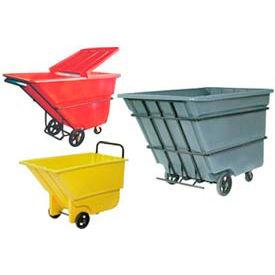 Bayhead Products Plastic Tilt Trucks - up to 1-1/10 Cu. Yd. Capacity