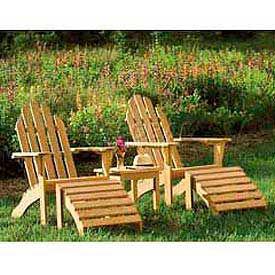 Chaises Adirondack en plein air