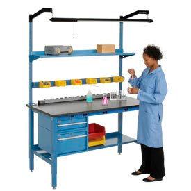 Global Industrial™ Heavy Duty Electric Lab Bench - Blue