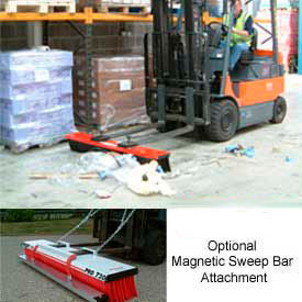 SweepEx® Forklift Mount Brooms, Sweepers & Magnetic Bar Attachments