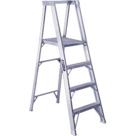 Louisville Aluminum Platform Step Ladders