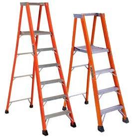 Louisville Fiberglass Platform Step Ladders