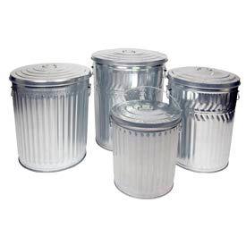 Galvanized Steel Garbage Cans