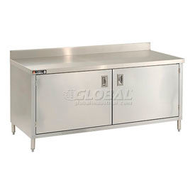 Stainless Steel Cabinet Benches With Hinged Doors