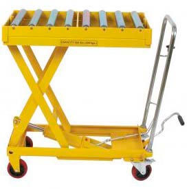 Wesco® Roller Conveyor Table Mobile Scissor Lift