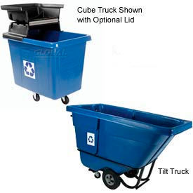 Rubbermaid® Recycling Cube & Tilt Truck