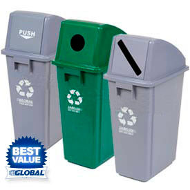 Global Industrial™ Plastic Waste & Recycling Containers