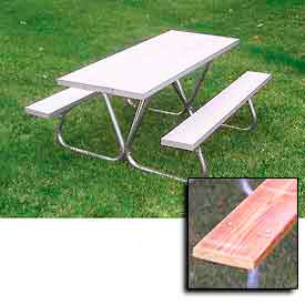 Aluminum & Wood Top Picnic Tables
