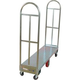 Wesco® galvanisé Steel Deck Narrow Aisle High End Platform Trucks