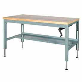 Hand Crank Hydraulic Adjustable Height Workbenches