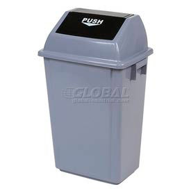 Global Industrial™ Flip Top Trash Can