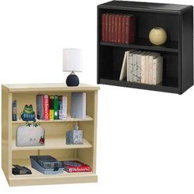 Bibliothèques de facilité de montage en acier - hauteur de bureau,