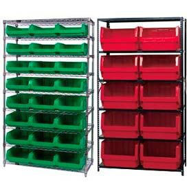 Steel or Chrome Shelving With Magnum Giant Hopper Bins