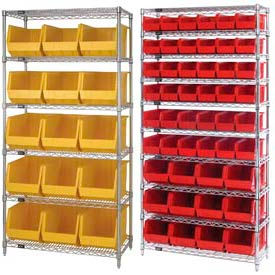 Chrome Wire Shelving With Stacking Bins