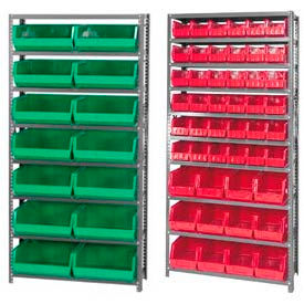 Steel Shelving With Stacking Bins