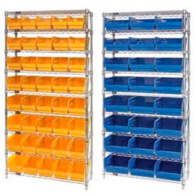 Chrome Wire Shelving With 6 Inch High Shelf Bins