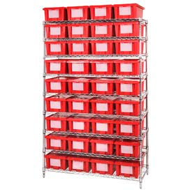 Chrome Wire Shelving With Nest And Stack Shipping Totes