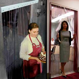 Curtronizer™ NSF Approved Office, Restaurant & Freezer Strip Curtain Doors