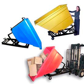 Bayhead Products Self-Dumping Plastic Forklift Hoppers