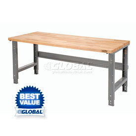 Global Industrial™ C-Channel Open Leg Adjustable Height Workbenches