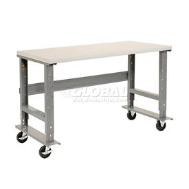 Mobile C-Channel Leg Adjustable Height Workbenches