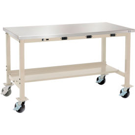Global Industrial™ Mobile Heavy Duty Lab Workbenches with Power Apron