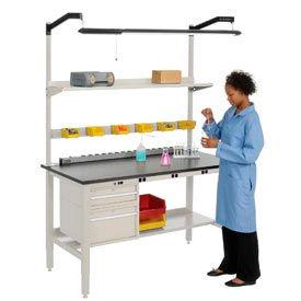 Global Industrial™ Heavy Duty Electric Lab Bench - Tan