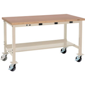 Global Industrial™ Mobile Production Workbenches With Power Apron