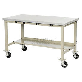 Global Industrial™ Mobile Heavy Duty Electric Production Bench - Tan