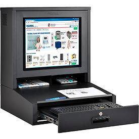 Counter Top LCD Security Computer Cabinet