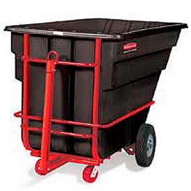 Rubbermaid® Heavy-Duty Towable Plastic Tilt Trucks
