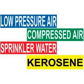 Pressure Sensitive Vinyl Pipe Markers 1-1/8