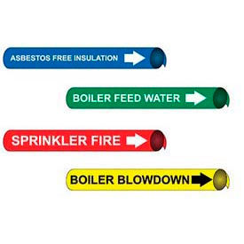 Precoiled & Strap-On Pipe Markers For 2-1/2