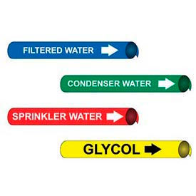 Precoiled And Strap-On Pipe Markers For Pipe Diameters Over 10 Inches
