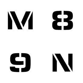Numéro individuel et pochoirs lettre