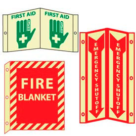 Glow - 3-View Fire Safety Signs