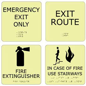 ADA Office Glow Exit Signs