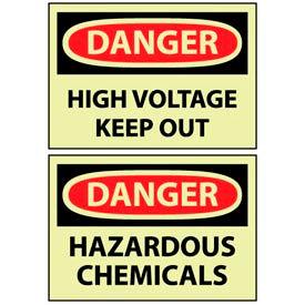 Glow - Chemical Hazard & Storage Signs