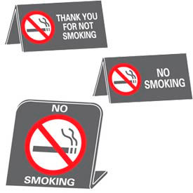 No Smoking Desk Signs