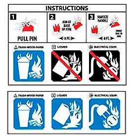 Fire Extinguisher Instruction Sign