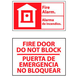 Bilingual Fire Safety Signs