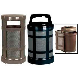 Rubbermaid® Designer Perforated Trash Containers