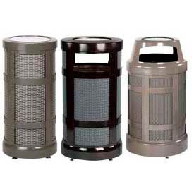 Rubbermaid® Designer Perforated Ash Trash Containers