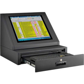 Counter Top LCD Console Computer Cabinet