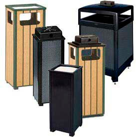 Rubbermaid® Designed Weather And Sand Top Ash Urn Waste Receptacles
