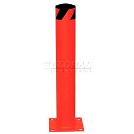 Bornes de sécurité en acier rouge avec capuchon amovible en caoutchouc