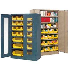 Armoires de rangement avec étagères réglables et bacs