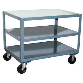 Reinforced Mobile Steel Tables