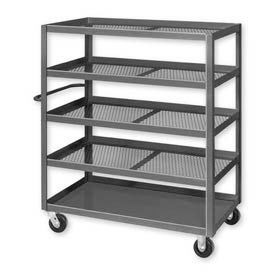 Mesh Panel Steel Fixed Shelf Trucks